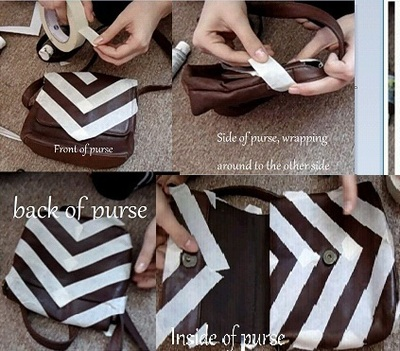 How to make a shoulder bag. Brushed Gold Chevron Purse - Step 3