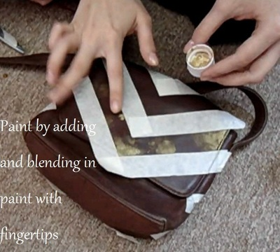 How to make a shoulder bag. Brushed Gold Chevron Purse - Step 4