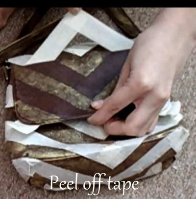 How to make a shoulder bag. Brushed Gold Chevron Purse - Step 6