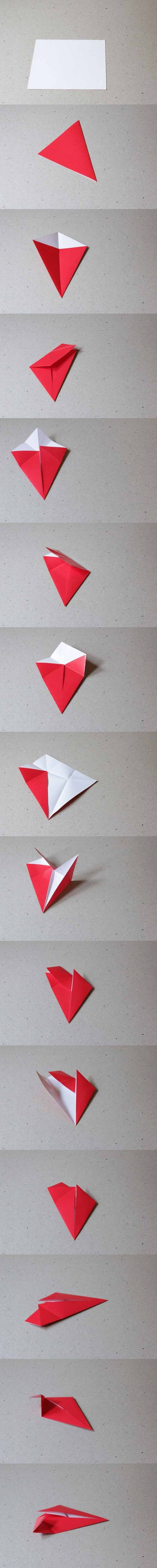 How to fold an origami shape. Origami Star - Step 1