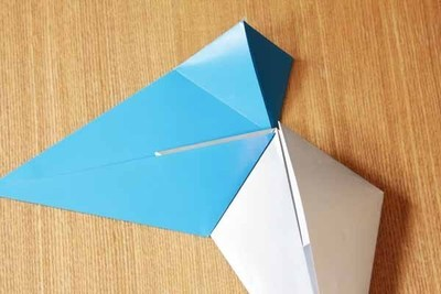 How to fold an origami shape. Origami Star - Step 2