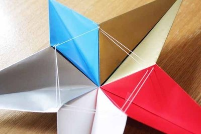 How to fold an origami shape. Origami Star - Step 5