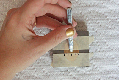 How to stamp a stamped metal pendant. Metal Stamped Necklace  - Step 4