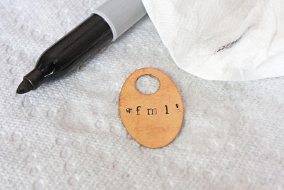 How to stamp a stamped metal pendant. Metal Stamped Necklace  - Step 6