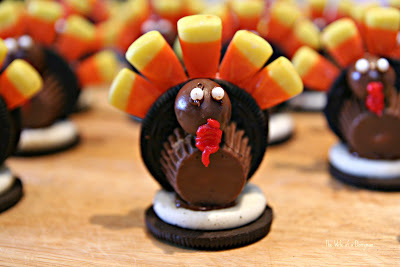 How to decorate an animal cookie. Oreo Turkey Treats!!! - Step 5