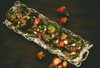 Small strawberry balsamic salad 8 small