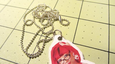 How to make a paper necklace. Twinkie Chan Paper Doll Necklace - Step 18