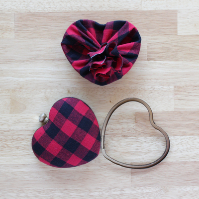How to make a heart shaped bag. Punk Rock Heart Clutch - Step 2