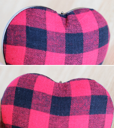 How to make a heart shaped bag. Punk Rock Heart Clutch - Step 4