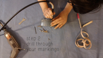 How to make a hair comb. Studded Hair Comb - Step 3