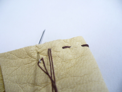 How to sew a leather pouch. Buckskin Card Holder - Step 1
