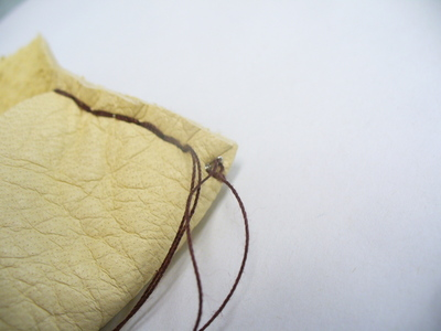 How to sew a leather pouch. Buckskin Card Holder - Step 3
