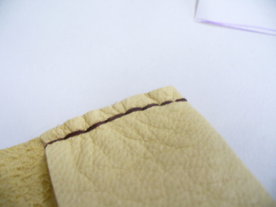 How to sew a leather pouch. Buckskin Card Holder - Step 6