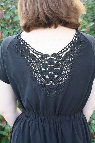 How to make an embellished dress. Adding A Crochet Applique To A Top/Dress - Step 6