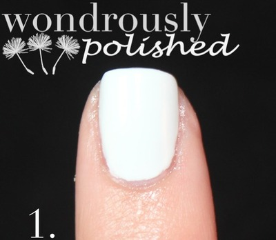 How to paint patterned nail art. Spanish Majolica Inspired Flower Nail Art - Step 1