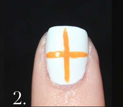 How to paint patterned nail art. Spanish Majolica Inspired Flower Nail Art - Step 2