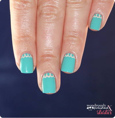 How to paint braided nail art. Lace Nail Art - Step 2