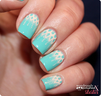 How to paint braided nail art. Lace Nail Art - Step 5