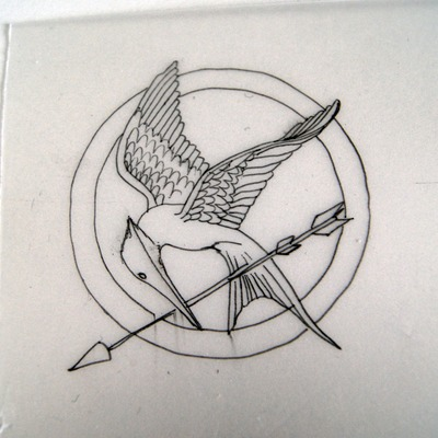 How to sculpt a clay character necklace. The Hunger Games   Mocking Jay - Step 2