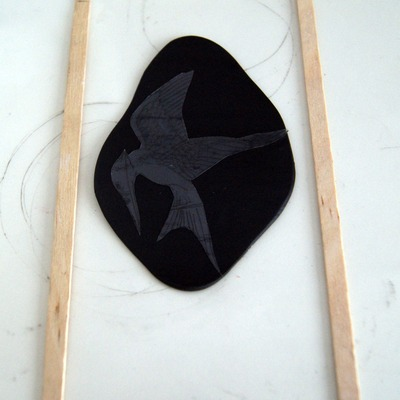 How to sculpt a clay character necklace. The Hunger Games   Mocking Jay - Step 5