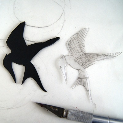How to sculpt a clay character necklace. The Hunger Games   Mocking Jay - Step 6