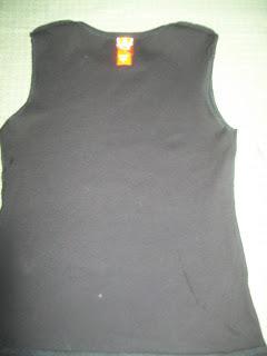 How to sew a t-shirt dress. Tutorial: 99 Cent Store T Shirt + 1/2 Yard Of Fabric = Dress  - Step 2