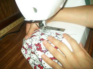 How to sew a t-shirt dress. Tutorial: 99 Cent Store T Shirt + 1/2 Yard Of Fabric = Dress  - Step 5