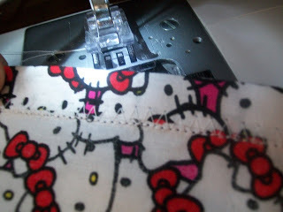 How to sew a t-shirt dress. Tutorial: 99 Cent Store T Shirt + 1/2 Yard Of Fabric = Dress  - Step 6