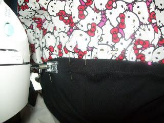 How to sew a t-shirt dress. Tutorial: 99 Cent Store T Shirt + 1/2 Yard Of Fabric = Dress  - Step 8