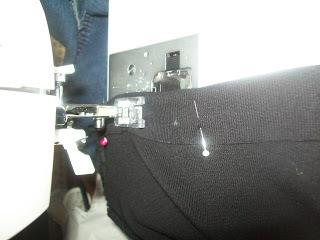 How to sew a t-shirt dress. Tutorial: 99 Cent Store T Shirt + 1/2 Yard Of Fabric = Dress  - Step 11