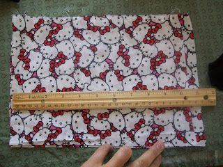 How to sew a t-shirt dress. Tutorial: 99 Cent Store T Shirt + 1/2 Yard Of Fabric = Dress  - Step 12