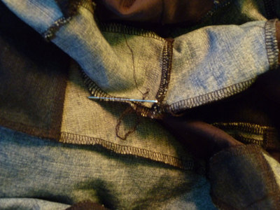 How to make a patchwork quilt. Denim Blanket From Upcycled Jeans - Step 13