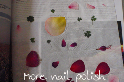 How to paint patterned nail art. Pressed Flower Nail Art - Step 1