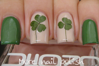 How to paint patterned nail art. Pressed Flower Nail Art - Step 3