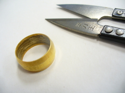 How to make a hardware ring. Hardware To Bling - Step 1
