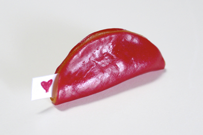 How to make a gummy sweet. Fruit Roll Up Fortune Cookies - Step 5