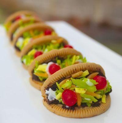 How to make decorative cookies. Taco Cookies - Step 8