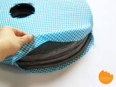 How to make a shaped cushion. Ponytail Pillow - Step 2