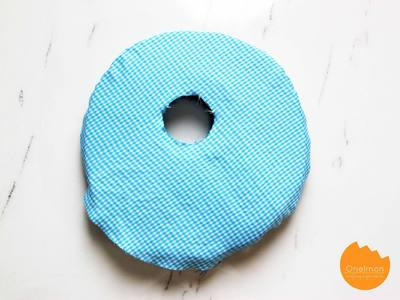How to make a shaped cushion. Ponytail Pillow - Step 3