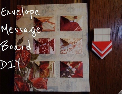 How to make a papercraft. Mini Envelope Message Board! - Step 2