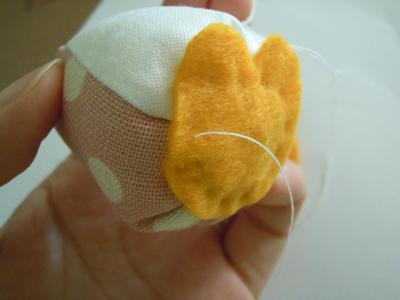 How to make a bird plushie. Little Owl - Step 8