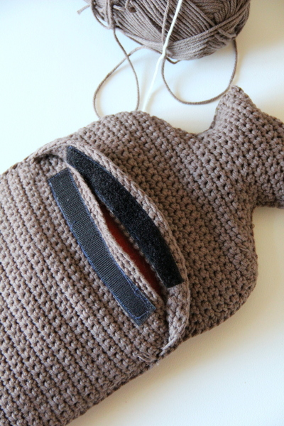 How to make a hot water bottle. Hot Water Bottle Cover - Step 5