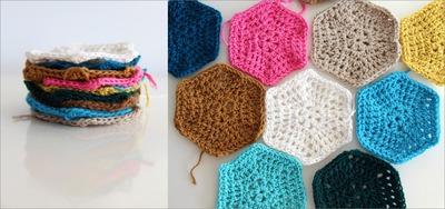 How to make a crochet. Crochet Hexagon - Step 1