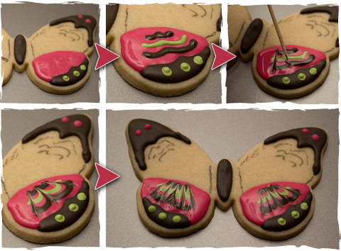 Create Butterfly Cookies Using The Marbling Technique ...