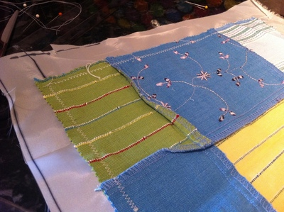 How to sew a patchwork pouch. Patchwork Makeup Pouch - Step 2