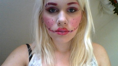 How to create a face painting. Bittersweet Fairy - Step 8