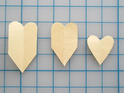 How to make a paper necklace. Chevron Heart Necklace - Step 7