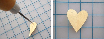 How to make a paper necklace. Chevron Heart Necklace - Step 8