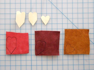 How to make a paper necklace. Chevron Heart Necklace - Step 9