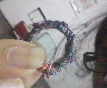 How to make a recycled ring. Ring From Headphones Wires - Step 8